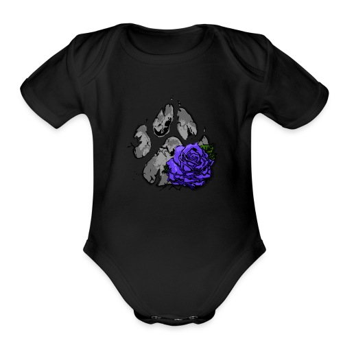 Midnight Gx logo - Organic Short Sleeve Baby Bodysuit