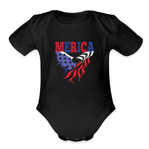 MERICA 4th of july t shirts old navy TSHIRT - Organic Short Sleeve Baby Bodysuit