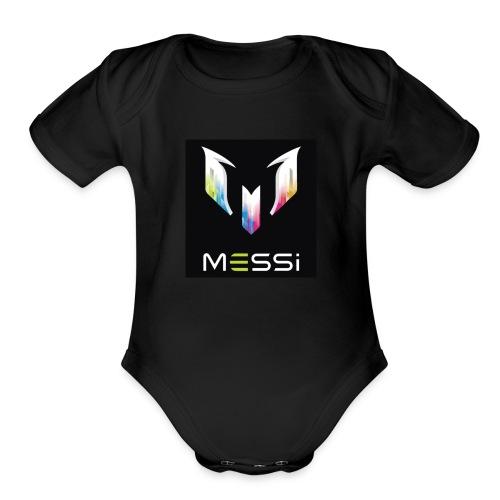 messi - Organic Short Sleeve Baby Bodysuit