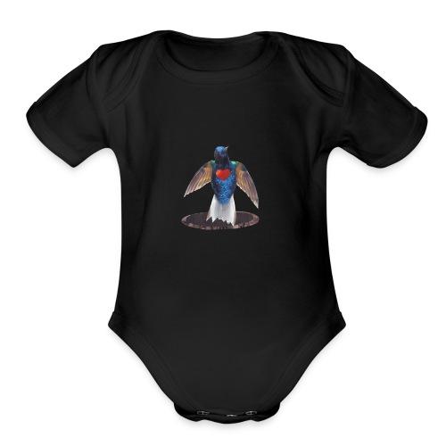 Aura Logo - Organic Short Sleeve Baby Bodysuit
