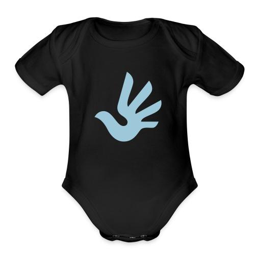 HR Logo CMYK - Organic Short Sleeve Baby Bodysuit