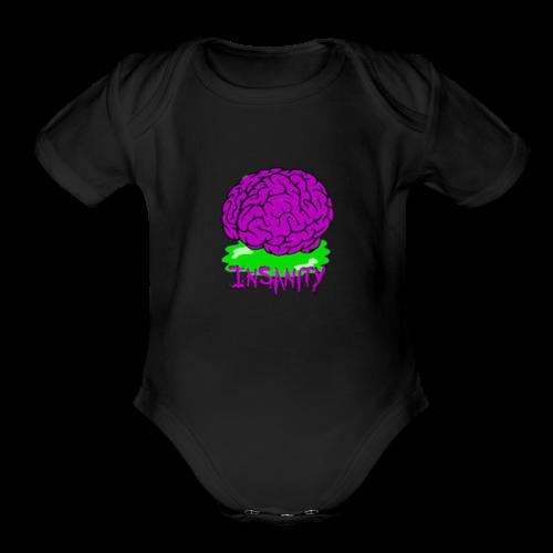Insanity Servers Logo - Organic Short Sleeve Baby Bodysuit