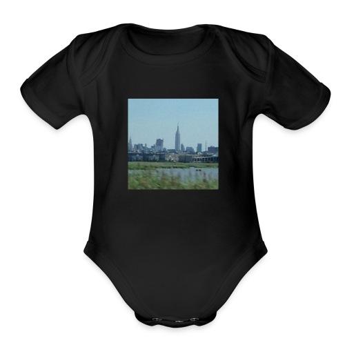New York - Organic Short Sleeve Baby Bodysuit