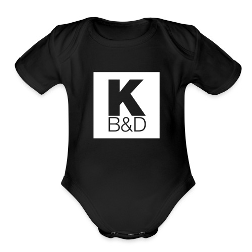 KBD_White - Organic Short Sleeve Baby Bodysuit