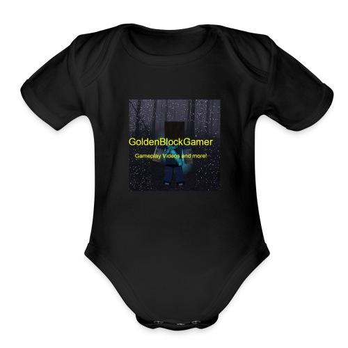 GoldenBlockGamer Tshirt - Organic Short Sleeve Baby Bodysuit
