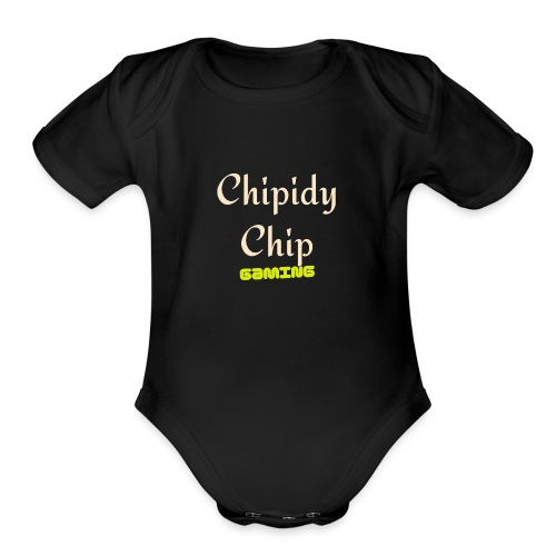 Chipidy Chip Gaming! - Organic Short Sleeve Baby Bodysuit