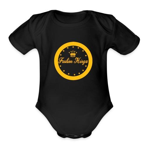 Fashion Kingz circle - Organic Short Sleeve Baby Bodysuit