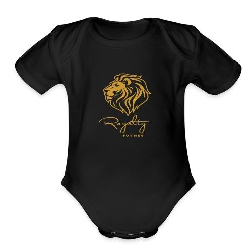 Royalty_For_Men_Logo - Organic Short Sleeve Baby Bodysuit