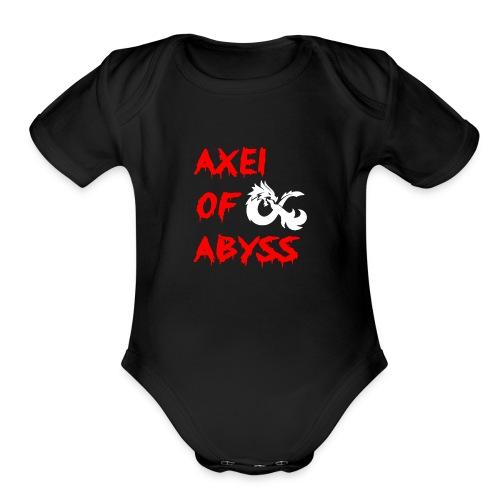 Axelofabyss dragon shirt - Organic Short Sleeve Baby Bodysuit