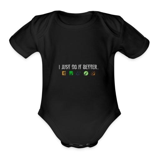 All sporrs better - Organic Short Sleeve Baby Bodysuit