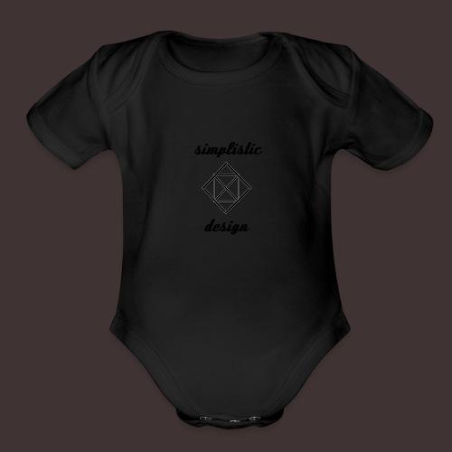 Simplistic Design Logo With Text - Organic Short Sleeve Baby Bodysuit