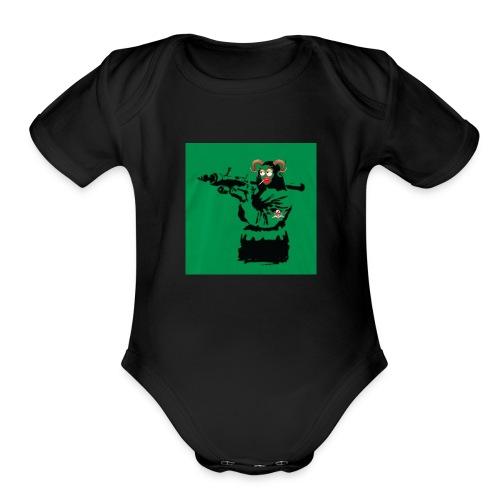 Baskey mona lisa - Organic Short Sleeve Baby Bodysuit