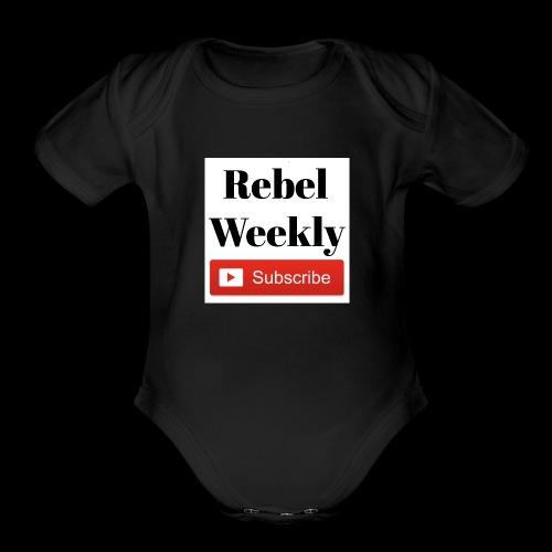 Rebel Weekly - Organic Short Sleeve Baby Bodysuit