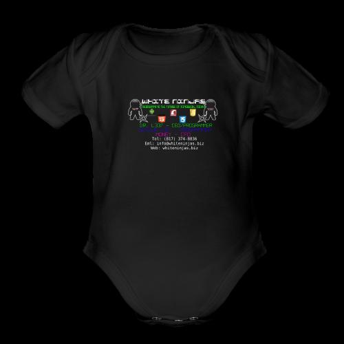 White Ninjas - Organic Short Sleeve Baby Bodysuit