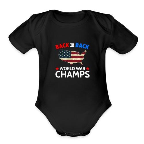 United States Patriot Champions - Organic Short Sleeve Baby Bodysuit
