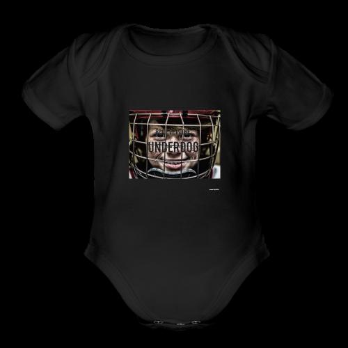 Believe in the underdog - Organic Short Sleeve Baby Bodysuit