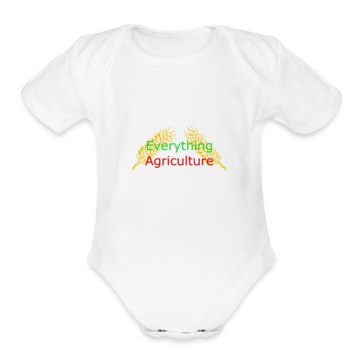 Everything Agriculture LOGO - Organic Short Sleeve Baby Bodysuit