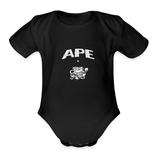 The_Two_Wheeled_Ape_Full_Throttle - Organic Short Sleeve Baby Bodysuit