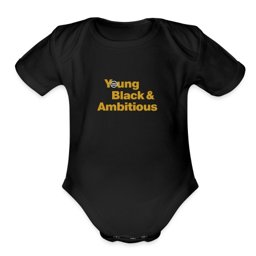 YBA Black and Gold Shirt2 - Organic Short Sleeve Baby Bodysuit