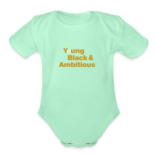 YBA Black and Gold Shirt2 - Organic Short Sleeve Baby Bodysuit