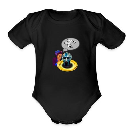 Daddy funk me - Organic Short Sleeve Baby Bodysuit