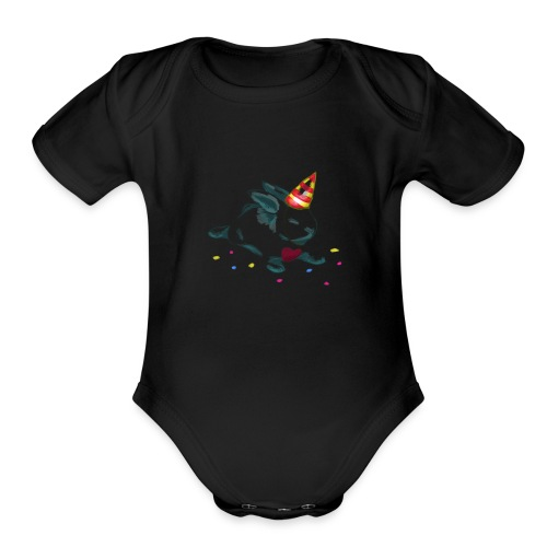 Birthday Bunny (or Unicorn Bunny) - Organic Short Sleeve Baby Bodysuit