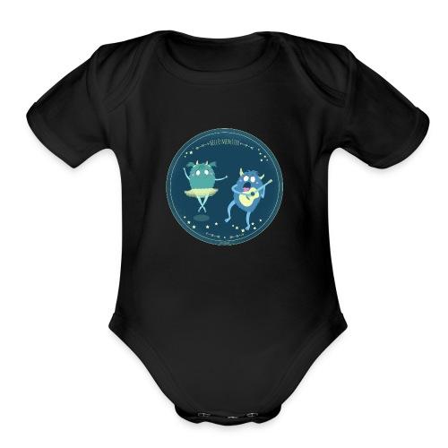 Celebrity monster couple - Organic Short Sleeve Baby Bodysuit