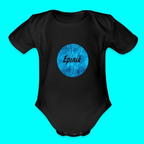 Epinik Logo - Organic Short Sleeve Baby Bodysuit