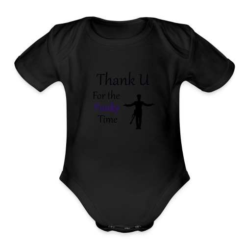 Prince - Darling Nikki Thank U for a Funky Time - Organic Short Sleeve Baby Bodysuit