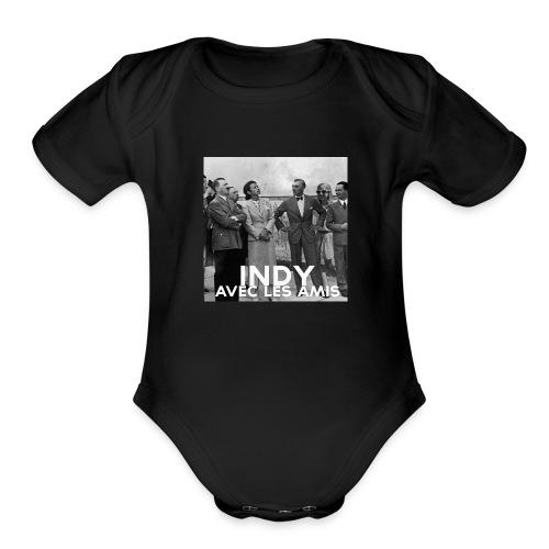 Indy avec les amis - Organic Short Sleeve Baby Bodysuit