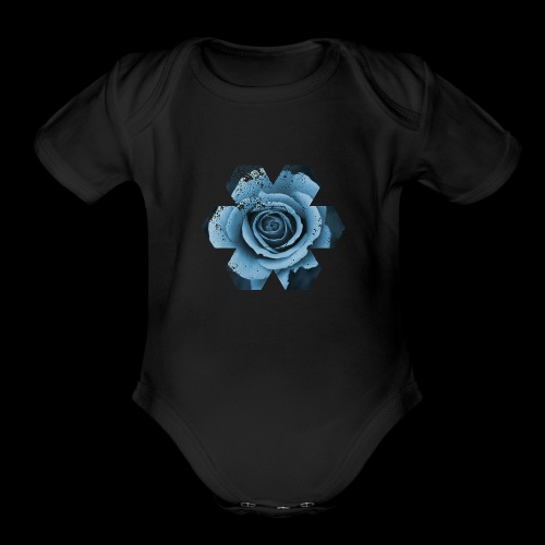 FLOWER OF LIFE.. - Organic Short Sleeve Baby Bodysuit
