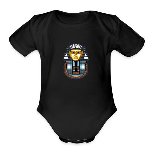 tutankhamun - Organic Short Sleeve Baby Bodysuit