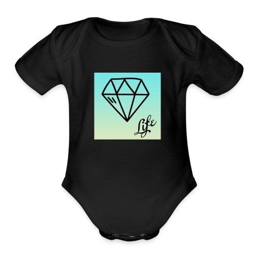 diamond life - Organic Short Sleeve Baby Bodysuit