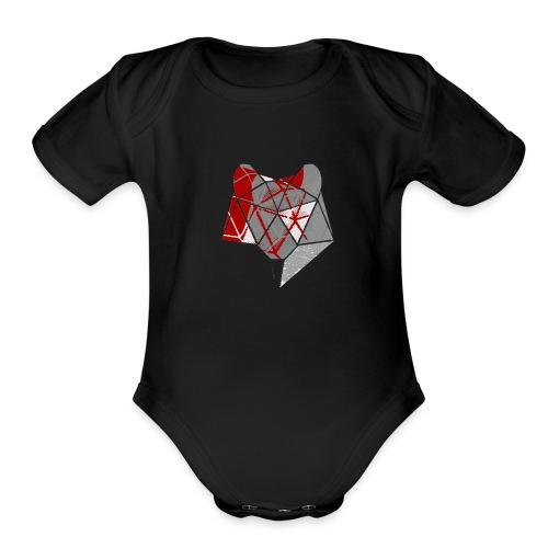 Abstract Wolf - Organic Short Sleeve Baby Bodysuit