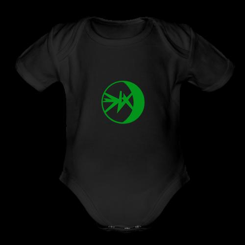 EKlips Clothing Green/Blk - Organic Short Sleeve Baby Bodysuit