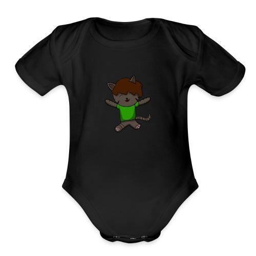 kitty ambuscade - Organic Short Sleeve Baby Bodysuit