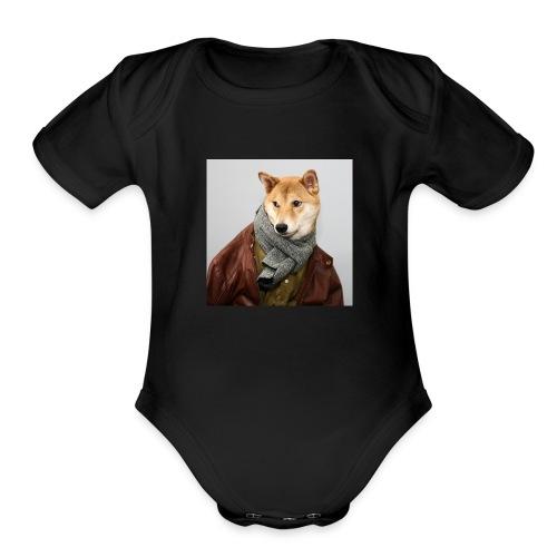 doge shirt - Organic Short Sleeve Baby Bodysuit