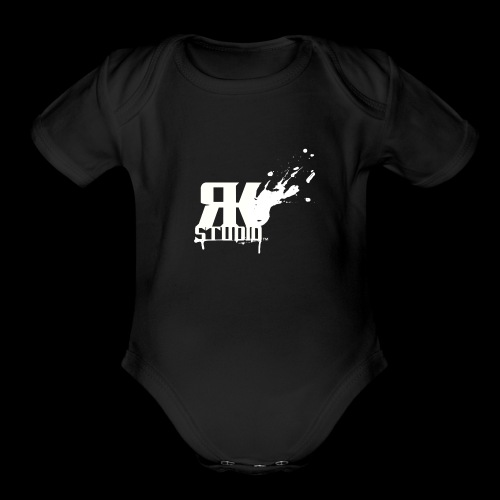 RKStudio White Logo Version - Organic Short Sleeve Baby Bodysuit