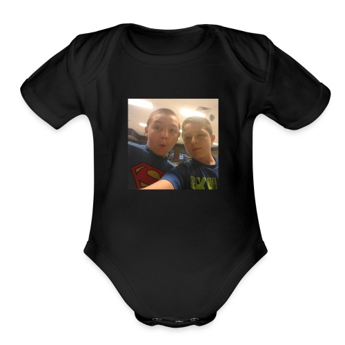 jacobs shirt/youtube partner - Organic Short Sleeve Baby Bodysuit