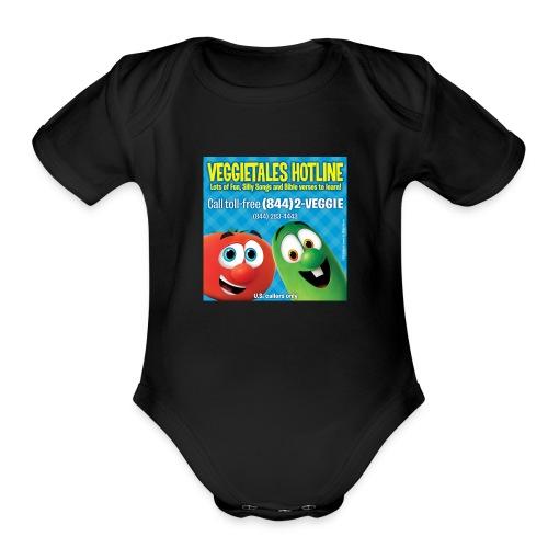 Veggietales Hotline Design - Organic Short Sleeve Baby Bodysuit