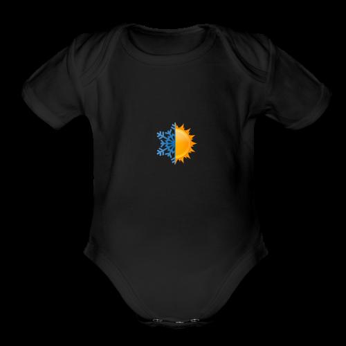 Half-n-Half - Organic Short Sleeve Baby Bodysuit