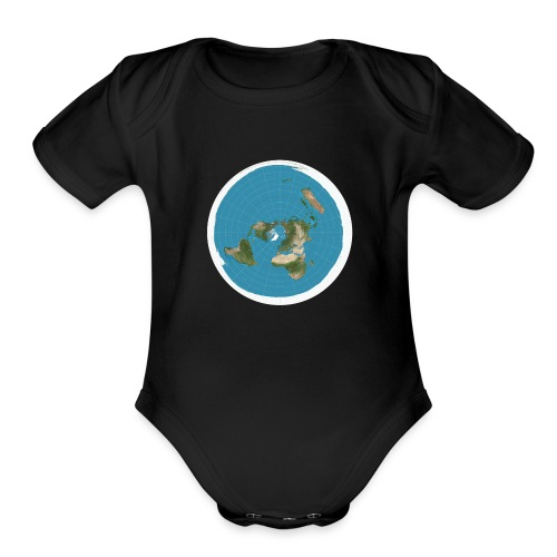 Flat Earth - Organic Short Sleeve Baby Bodysuit