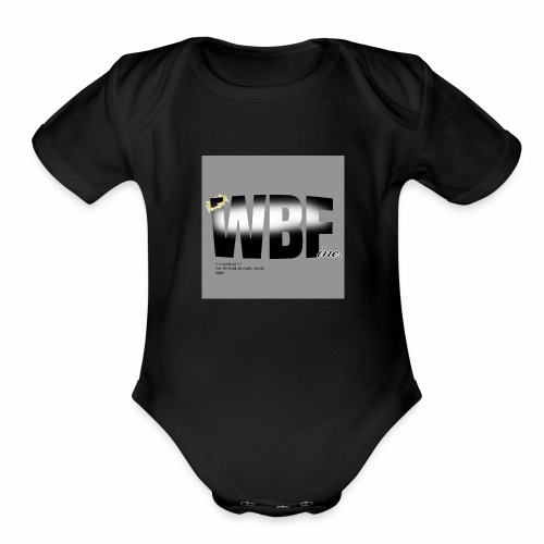 walking by faith and scripture - Organic Short Sleeve Baby Bodysuit