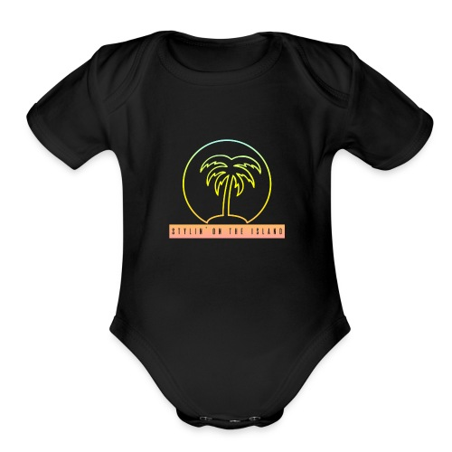 Stylin On The Island PNG - Organic Short Sleeve Baby Bodysuit