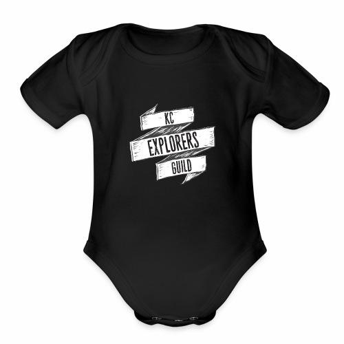 KCEG 3 Ribbon Logo - Organic Short Sleeve Baby Bodysuit