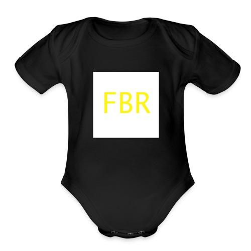 fbr1 - Organic Short Sleeve Baby Bodysuit