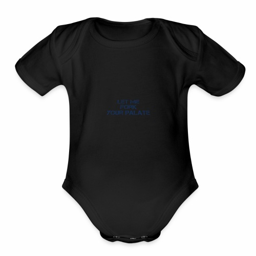 fork4 - Organic Short Sleeve Baby Bodysuit