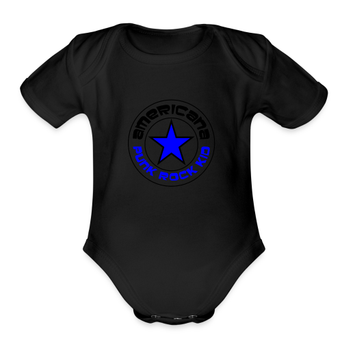 Americana Punk Rock Kid - Organic Short Sleeve Baby Bodysuit