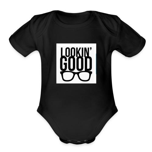 Looking good t shirt unisex design - Organic Short Sleeve Baby Bodysuit