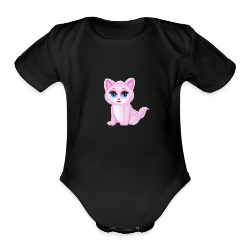 Cute Kitty Cat - Organic Short Sleeve Baby Bodysuit